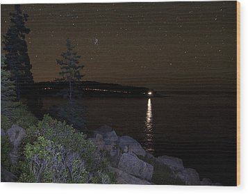 Rounding Otter Point Wood Print by Brent L Ander