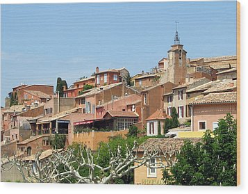 Roussillon In Provence Wood Print by Carla Parris