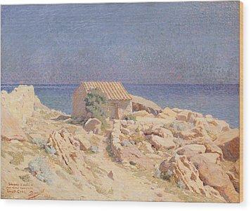 Roussillon Landscape Wood Print by Georges Daniel de Monfreid