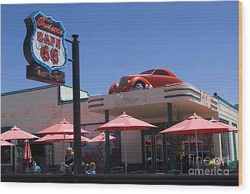 Route 66 Cruisers Williams Arizona Wood Print by Bob Christopher