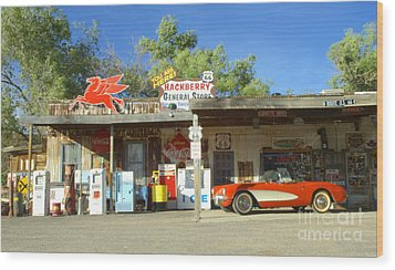Route 66 Hackberry Arizona Wood Print by Bob Christopher