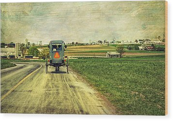 Route 716 Wood Print by Kathy Jennings