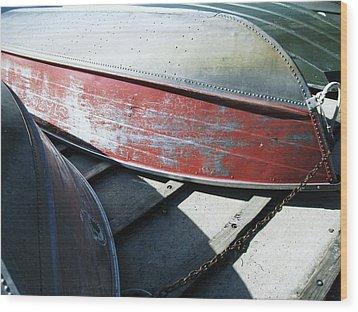 Row Baots Wood Print by Todd Sherlock