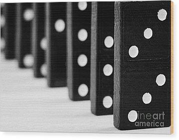 Row Of Dominoes Wood Print by Joe Fox