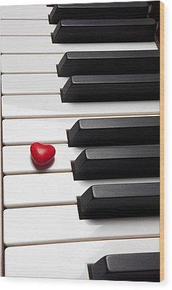 Row Of Piano Keys Wood Print by Garry Gay