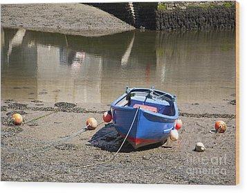 Rowing Boat Wood Print by Jane Rix