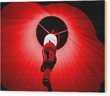 Roxannes Red Light Wood Print by Shana Rowe Jackson
