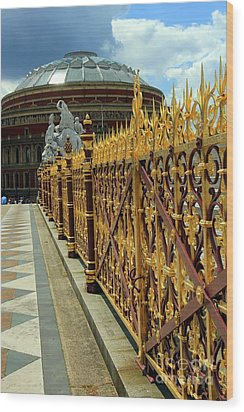 Royal Albert Hall And Golden Gate Wood Print by Sophie Vigneault
