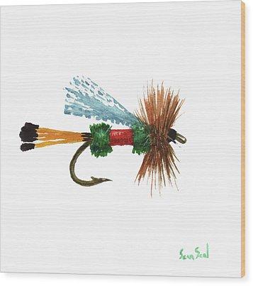 Royal Coachman Trude Wood Print by Sean Seal
