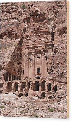Royal Graves, Djebel Khubtha, Petra, Jordan Wood Print by Patrice Hauser
