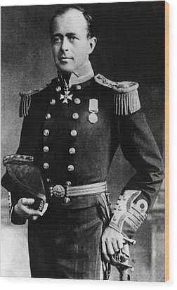 Royal Navy Officer And Antarctic Wood Print by Everett