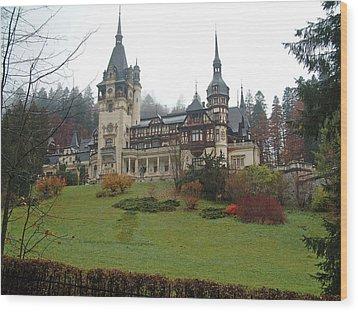 Royal Peles Castle Sinaia Romania Wood Print by Mircea Veleanu