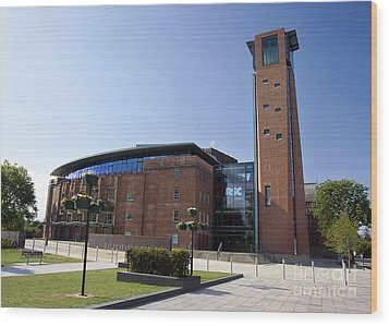 Royal Shakespeare Theatre Wood Print by Jane Rix