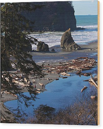 Ruby Beach IIi Wood Print by Jeanette C Landstrom