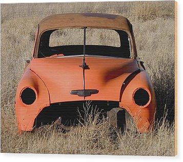 Ruby Chevrolet Wood Print by FeVa  Fotos
