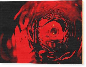 Ruby Red Race Wood Print