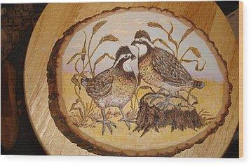 Ruffed Grouse Chat Wood Print by Dakota Sage