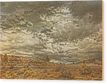 Rugged Country Wood Print by Bonnie Bruno