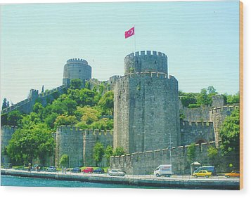 Wood Print featuring the painting Rumeli Hisar by Lou Ann Bagnall
