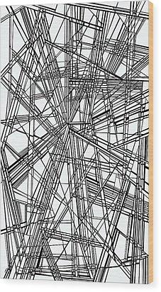 Run Wood Print by Douglas Christian Larsen