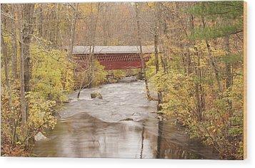 Rural Bridge Wood Print by Tristan Bosworth