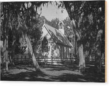 Rural Congregation Wood Print by Lynn Palmer