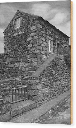 Rural Home Wood Print by Gaspar Avila