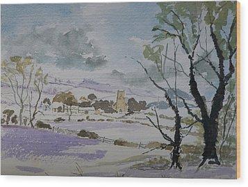 Rural Parish Wood Print by Rob Hemphill
