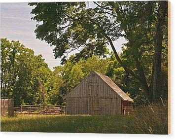 Wood Print featuring the photograph Rural Rhode Island by Nancy De Flon
