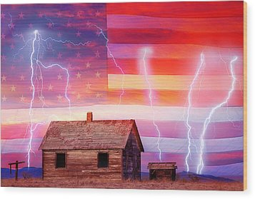 Rural Rustic America Storm Wood Print by James BO  Insogna