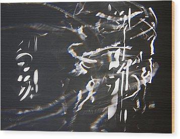 Rushing Headlong Wood Print by Cheri Randolph