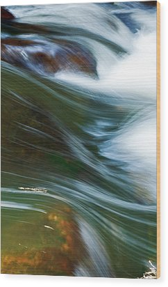 Rushing Water I Wood Print