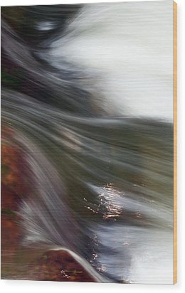 Rushing Water II Wood Print