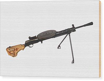 Russian 7.62mm Degtyarev Dp Machine Gun Wood Print by Andrew Chittock