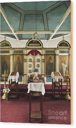 Russian Orthodox Church Wood Print by John Greim