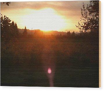 Russian River Sunrise Wood Print