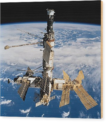 Russian Space Station Mir. Photo Wood Print by Everett