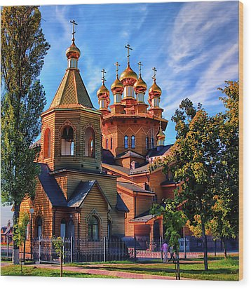 Russian Wooden Church Wood Print by Gennadiy Golovskoy