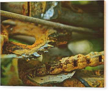 Rust Abstraction Wood Print by Odd Jeppesen