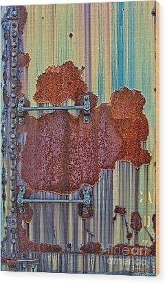 Rusted Art Wood Print by Susan Candelario