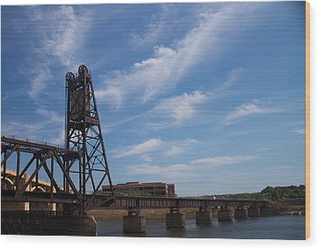 Wood Print featuring the photograph Rusted Bridge by Stephanie Nuttall