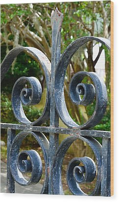 Rusted Charleston Ironwork Wood Print