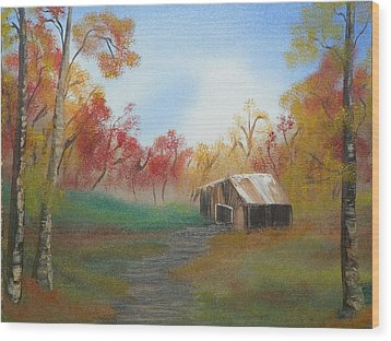 Rustic Wood Print by Amity Traylor