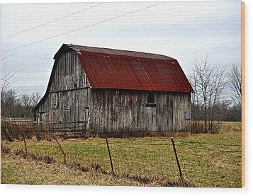 Rustic Barn 2 Wood Print by Marty Koch