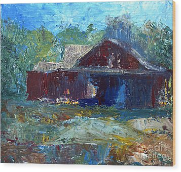 Rustic Barn Wood Print by Claire Bull