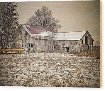 Wood Print featuring the photograph Rustic Barn by Mary Timman