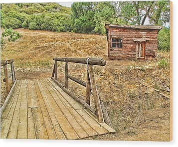 Wood Print featuring the photograph Rustic Cabin by Jason Abando
