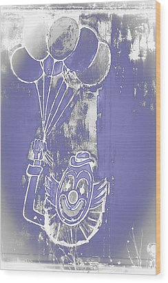 Rustic Clown Wood Print by Melany Sarafis