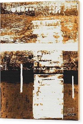 Rustic Modern Wood Print by Marsha Heiken