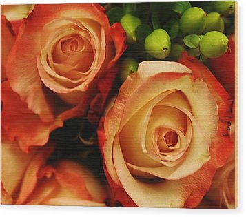Rustic Roses Wood Print by Bruce Bley